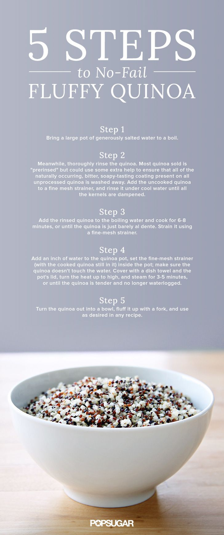 5 Steps To Nofail, Fluffy Quinoa How To Cook