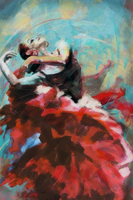 1000 best images about flamenco art on pinterest - Peinture danseuse de flamenco ...