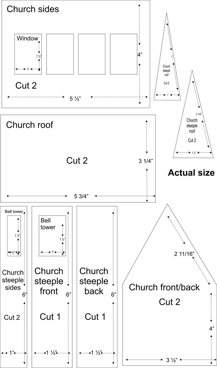 Church village illustrations these patterns there is a for House pattern