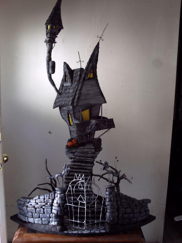A nightmare before christmas, jacks haunted house. custom order only.. $1,000.00, via Etsy.
