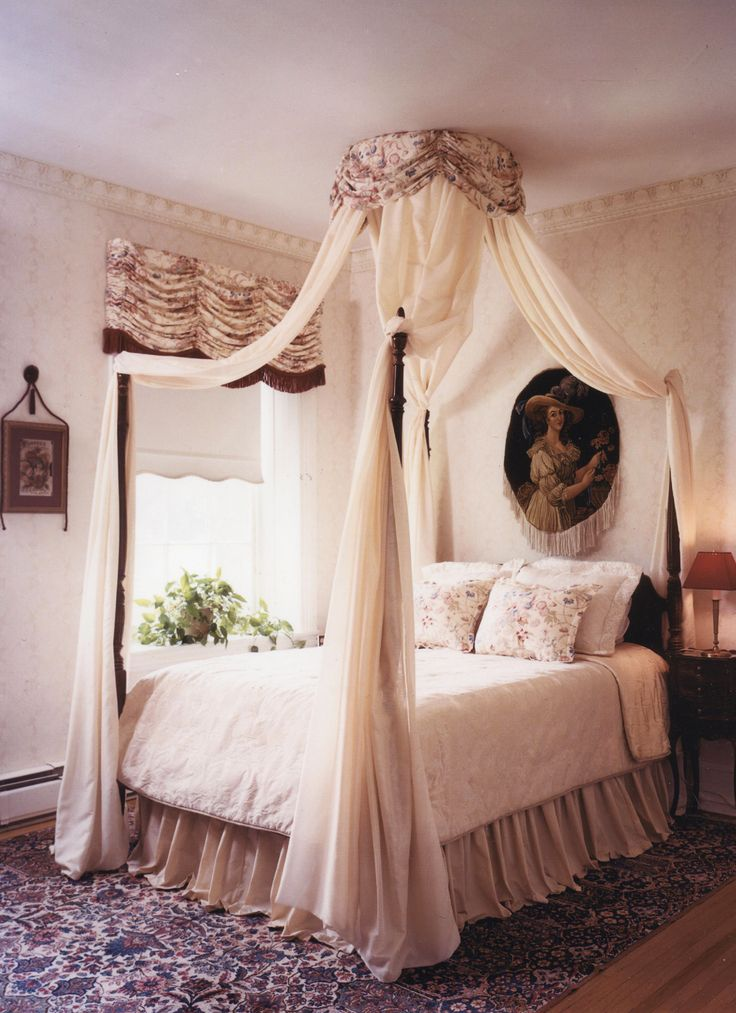 This delightfully romantic guest bedroom features a