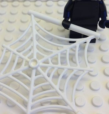 Spindelnät stort Vit