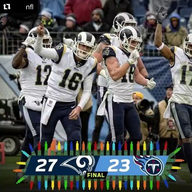Game #15 2017: Congrats LA Rams clinches NFC West...LA Rams-27 vs. Titans-23 @ Nashville TN, Rams record 11-4 NFC West Champions in 14 years, last 2003. (therams.image) 12.24.17 (Sun) #2/7