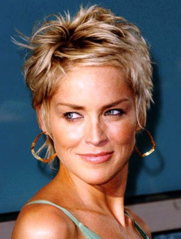 sharon stone short hair pics | Great Haircuts & Highlights ...