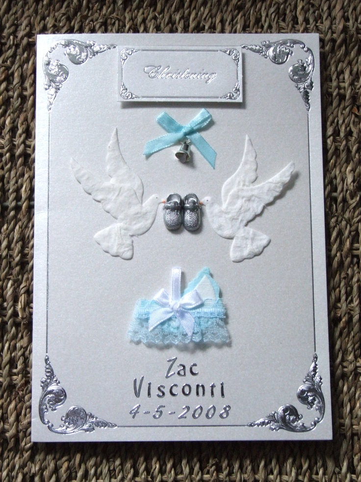 Exceptional Christening Card Ideas To Make Part - 3: Handmade Christening Card By Mandishella