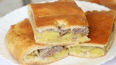 Пирог с фаршем и картошкой в духовке / Простые рецепты