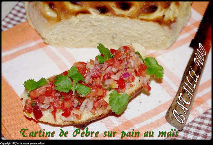 ** Tartine de Pebre sur Pain au Maïs ~ J'ai le Coeur Gourmandise ** http://coeurgourmandise.canalblog.com/