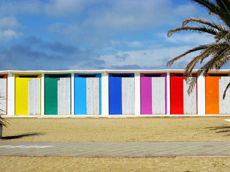 rimini #sea #beach #colors #rainbow #spring #photo #tommymorosetti