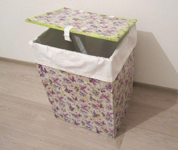 Ideas para el hogar canasto reciclado para ropa sucia for Ideas para el hogar