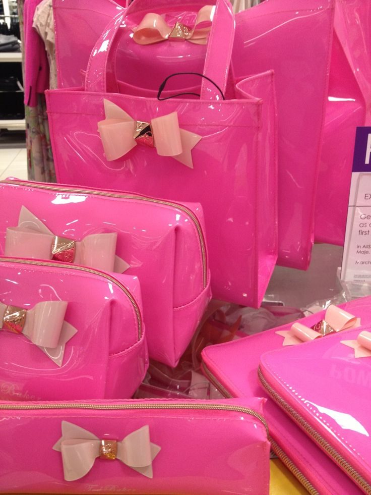 Pink Bow Patent Leather Accessories