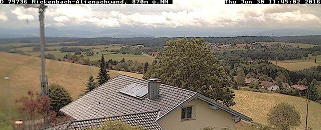 WebCam u. Wetterdaten / Rickenbach-Altenschwand / Südschwarzwald / Hotzenwald