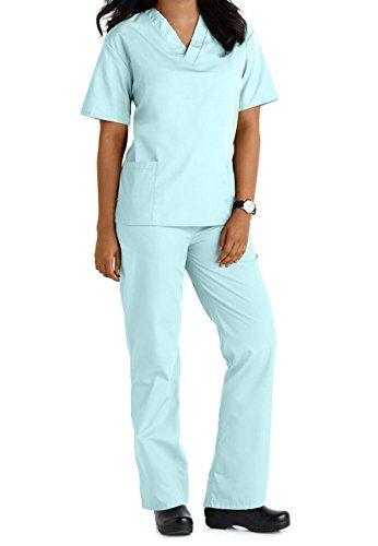 Women's Scrub Set, Assorted Colors, XXS-5X, Plus Sizes Available - http://www.darrenblogs.com/2017/04/womens-scrub-set-assorted-colors-xxs-5x-plus-sizes-available/