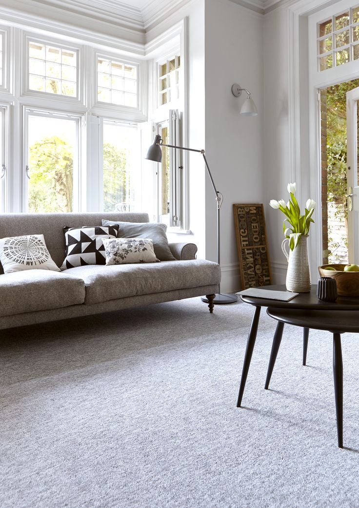 Lakeside plain and stripe carpet