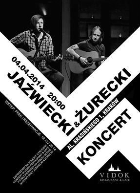 This friday at 8 P.M. -  Kuba Jaźwiecki & Arek Żurecki (acoustic rock).  Free entrance. Reservations: (+48)12 422 28 14  https://www.facebook.com/events/1388902734722133/?source=3&source_newsfeed_story_type=regular