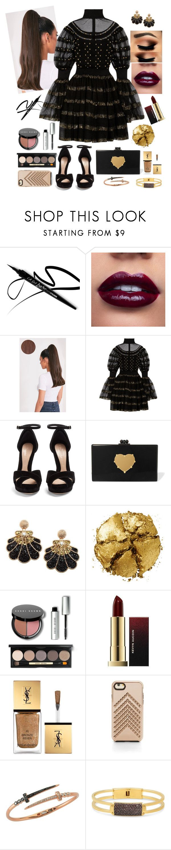 """Без названия #179"" by shpurikova ❤ liked on Polyvore featuring Alexander McQueen, Edie Parker, Pat McGrath, Bobbi Brown Cosmetics, Yves Saint Laurent, Rebecca Minkoff, Bee Goddess and Henri Bendel"