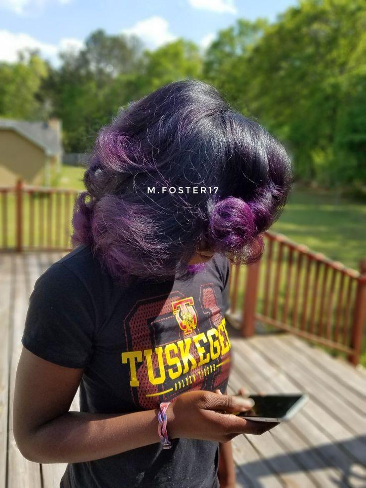Purple natural hair pink purple hair color