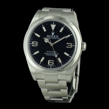 ROLEX - New Explorer I, cresus montres de luxe d'occasion, http://www.cresus.fr/montres/montre-occasion-rolex-new_explorer_i,r2,p24928.html