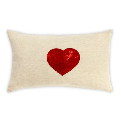 30x50cm Sequin Heart cushion
