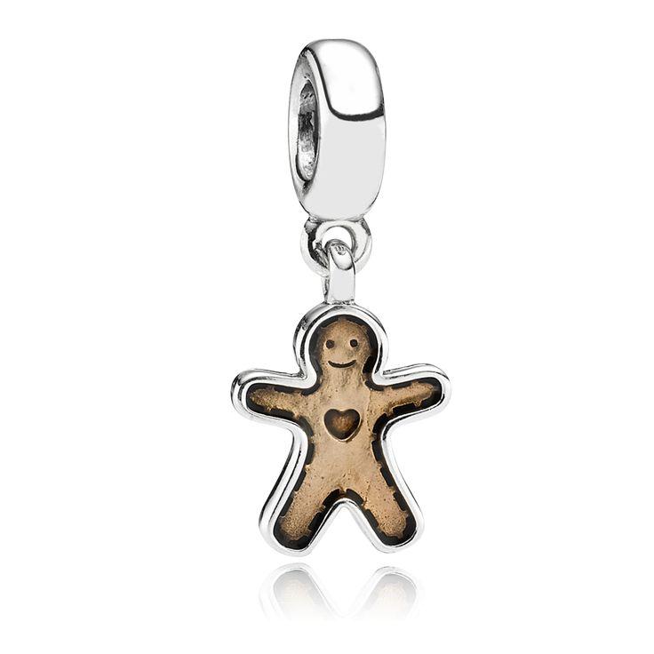 PANDORA | Gingerbread Man, Golden Enamel