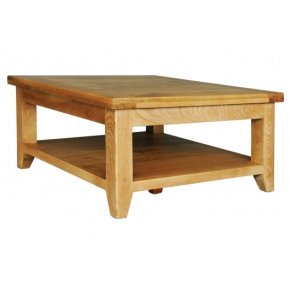 Vancouver Oak VA015 Square Coffee Table with Shelf  www.easyfurn.co.uk