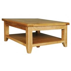 Vancouver Oak VA015 Square Coffee Table with Shelf  www.easyfurn.co.uk
