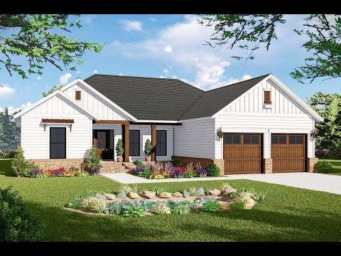 Plan 51189mm New American Ranch Home Plan With Split Bed Layout Modern Farmhouse Plans Country Style House Plans Ranch House Plans