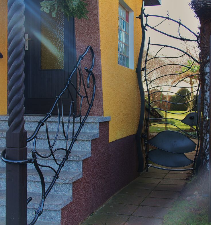 handmade gate and handrail