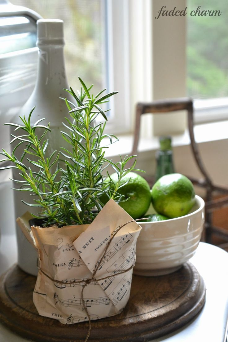 If your flower pots are ugly, cover them with beautiful paper and piece of string. Easy and cheap cover.