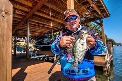 Wally Marshall and others spill the beans on how to catch crappie from under docks with a simple technique called shooting docks.