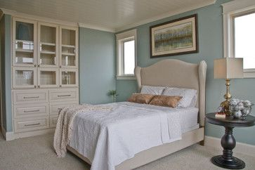 """""""Moore, Gossamer Blue, 2123-40. This color provides for a very soft and relaxing atmosphere."""""""