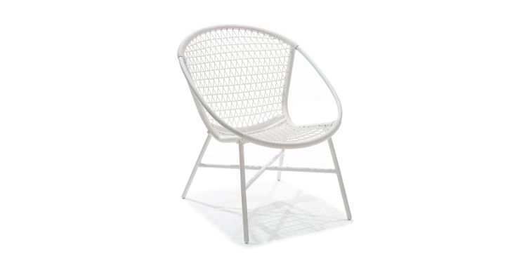 Sala White Lounge Chair
