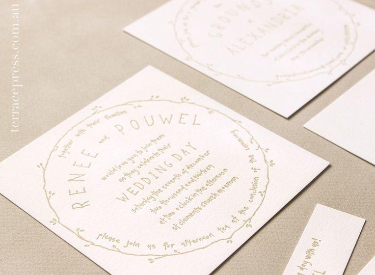 Close up of the wedding suite #letterpress #terracepress #wedding #stationery #invitation