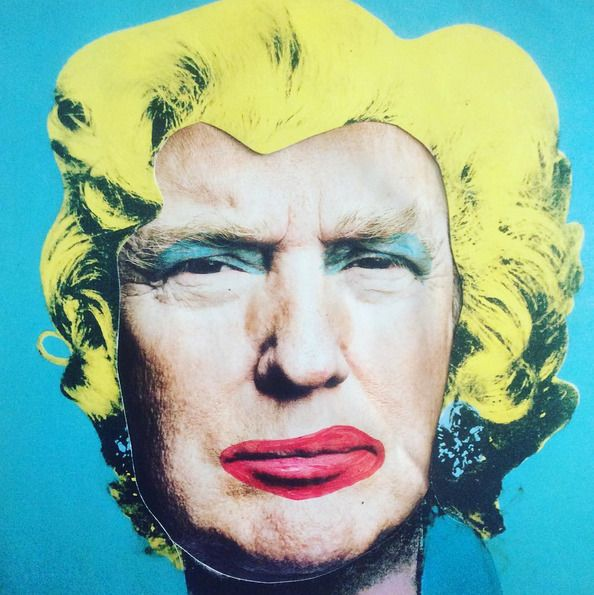 'A--- ---hol Donald' 30x30cm, canvas, 2017#ichoosetheartway #deshalb #DeshaNujsongsinn #deshalbpunkt #canvas #mixedmedia...