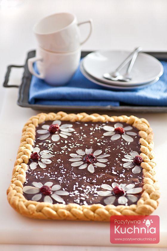 #Mazurek czekoladowy czyli kruche #ciasto i #czekolada z bakaliami na #Wielkanoc :)  http://pozytywnakuchnia.pl/mazurek-czekoladowy/  #przepis