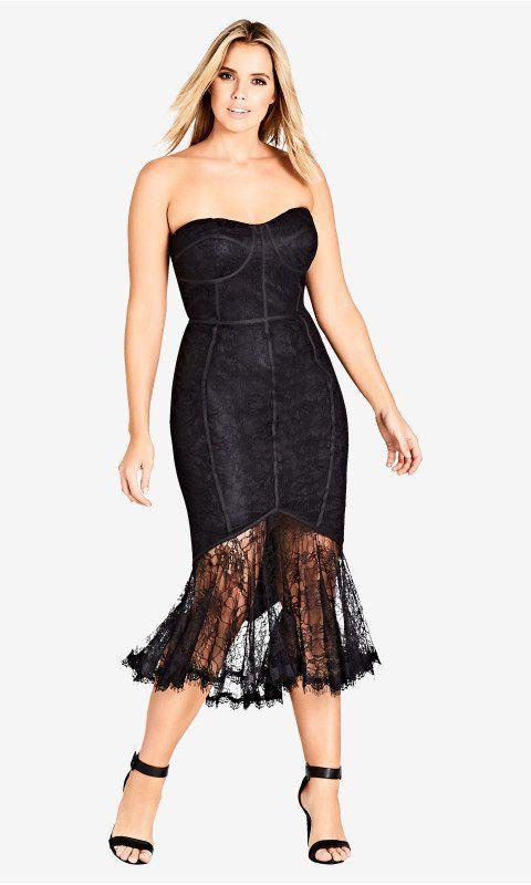 Shop Womens Plus Size So Seductive Dress Black Dresses City