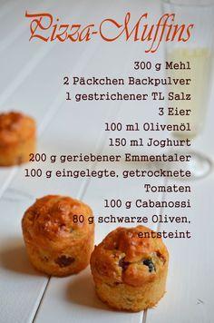 Post aus meiner Küche: Das Rundum-Sorglos-Paket für einen Filmabend mit den Mädels. Teil 1: Pizza-Muffins #rezept #pamk