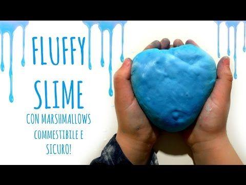 FLUFFY SLIME con Marshmallows Commestibile e SICURO ! (Paste modellabili)Arte per Te - YouTube