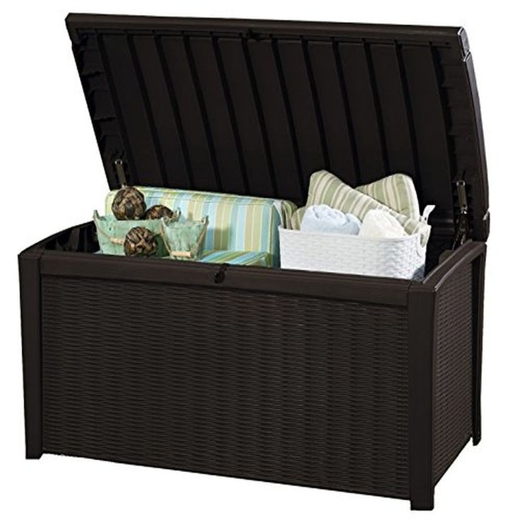 Plastic Storage Box Garden Furniture, 129.5 x 70 x 62.5 cm Keter Borneo Outdoor  #PlasticStorageBox