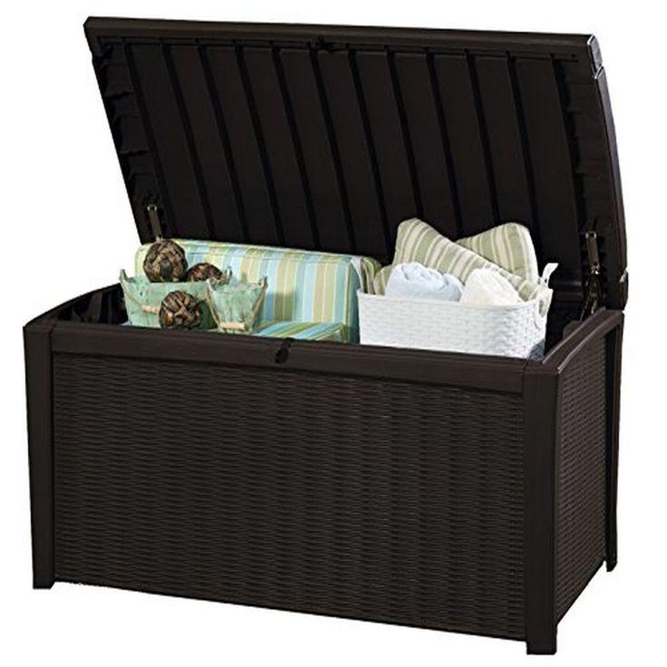 Plastic Storage Box Garden Furniture, 129.5 x 70 x 62.5 cm Keter Borneo Outdoor  #PlasticStorageBox