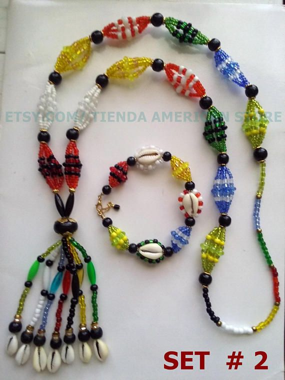Santeria  Yoruba Eleke, necklace or bracelet Idde for 7