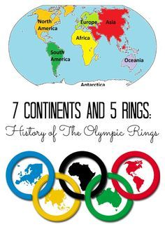 Why are there 5 rings of the Olympic Games? Explore the continents of Olympic Games with FREE Printable