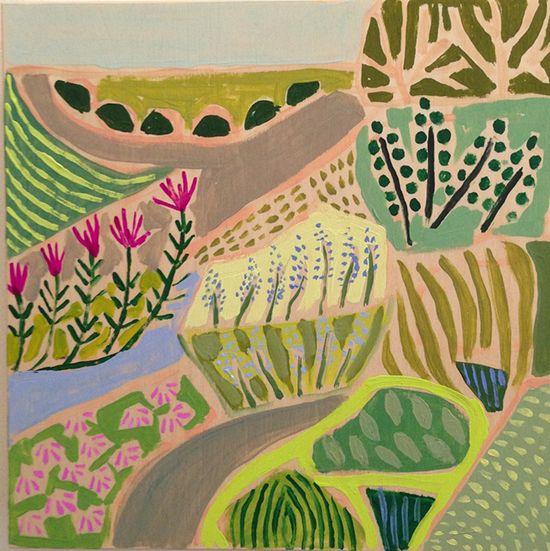 lulie wallace's landscape paintings via designlovefest.com