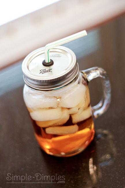 Dimplicity - Crafty Blog: Mason Jar Lidded Cup using Grommets