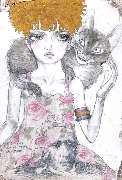 イラストレーター宇野亞喜良の展覧会が銀座三越で開催 - 猫モチーフの作品中心に約50点を展示販売の写真7
