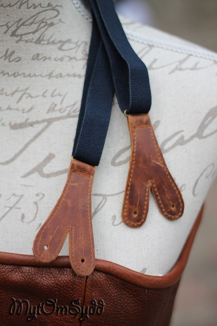 Old style suspenders with leather straps. Made by Costume designer/costume maker Julia Elstring Högberg.