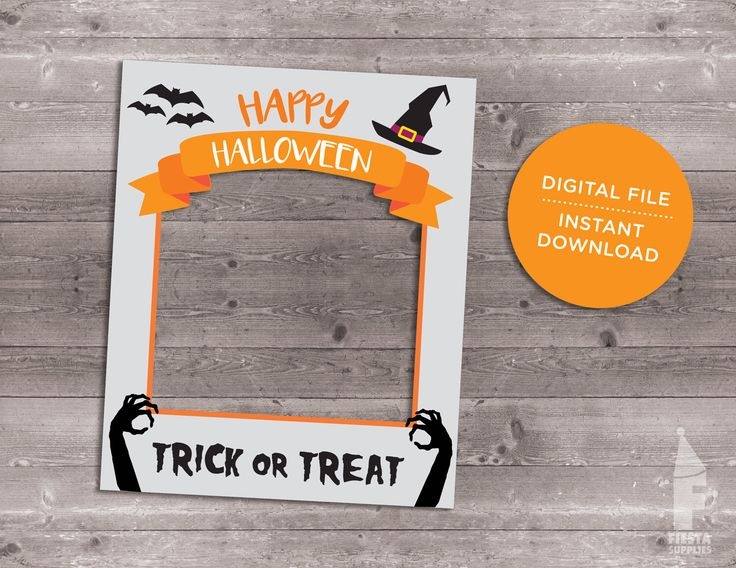 Halloween Frame Custom Design, Instagram Photo Booth Prop