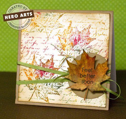 Hero Arts Cardmaking Idea: Feel Better Soon