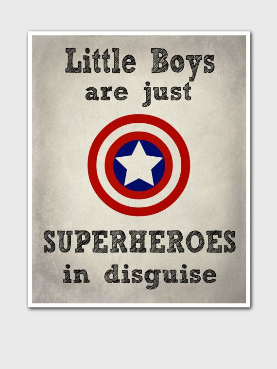 Superhero Kids Poster - Marvel Comics - Gift For Boys - Kids Art Print - Superhero Art Print - Bedroom Decor - Captain America - Superheroes