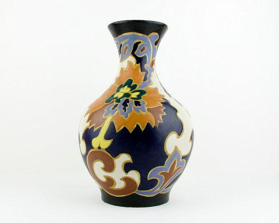 Vintage beautiful art deco vase gouda style aca alda - Deco vintage belgique ...
