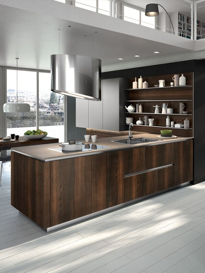 Wooden fitted kitchen way by snaidero cucine wood for Fitted kitchen designs